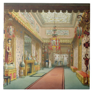 The Chinese Gallery, from 'Views of the Royal Pavi Tile