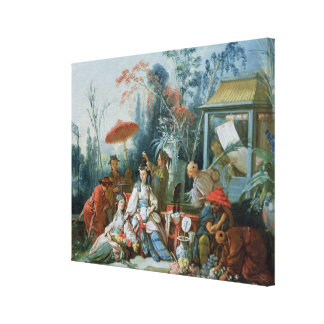 The Chinese Garden, c.1742 Canvas Prints