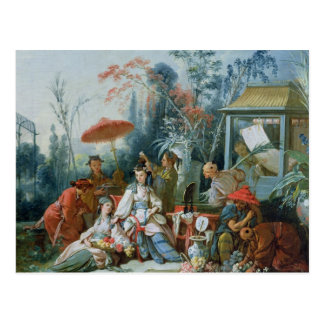 The Chinese Garden, c.1742 Postcard