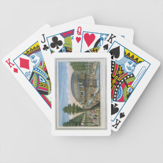 The Chinese House, the Rotunda and the Company in Bicycle Playing Cards