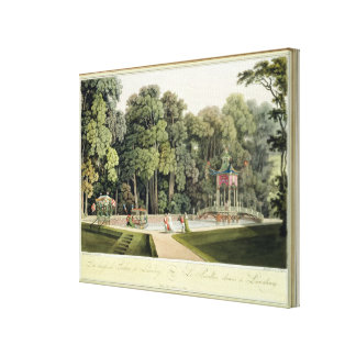 The Chinese Pavilion in the Laxenburg Gardens, Vie Canvas Print