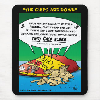 """""""The Chips Are Down"""" Mouse Pad"""