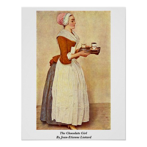 The Chocolate Girl By Jean-Etienne Liotard Poster