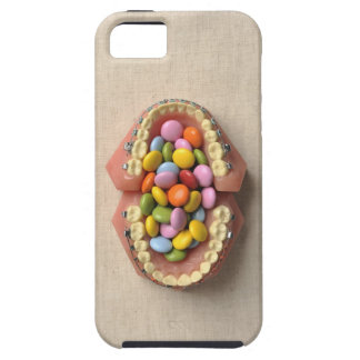 The chocolate served in the dental model iPhone 5 covers