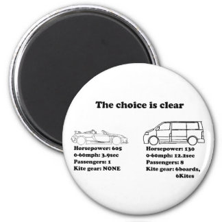 the choice is clear 6 cm round magnet