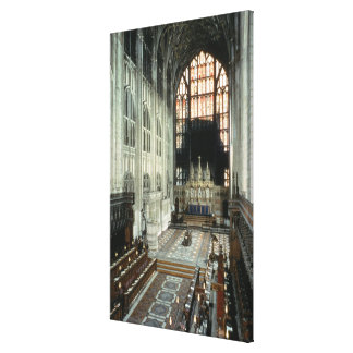 The choir and east window, 12th century (photo) canvas print