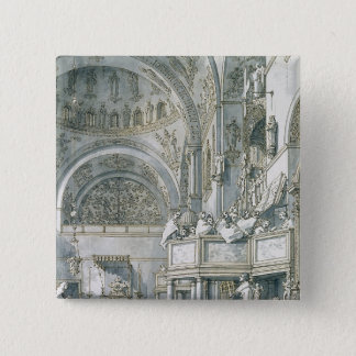 The Choir Singing in St. Mark's Basilica, 15 Cm Square Badge