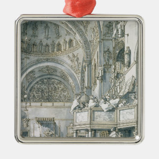 The Choir Singing in St. Mark's Basilica, Christmas Ornament
