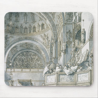 The Choir Singing in St. Mark's Basilica, Mouse Mat