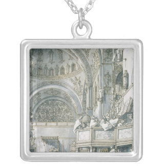 The Choir Singing in St. Mark's Basilica, Silver Plated Necklace
