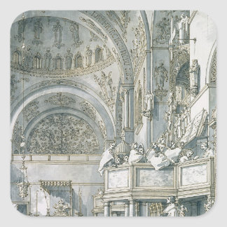 The Choir Singing in St. Mark's Basilica, Square Sticker
