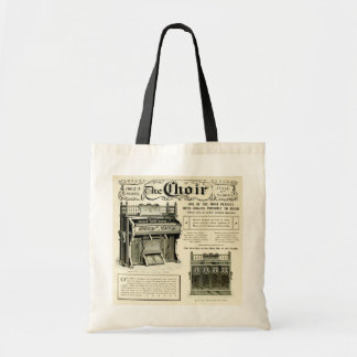 The Choir ~ Vintage Reed Organ Advertising Tote Bag