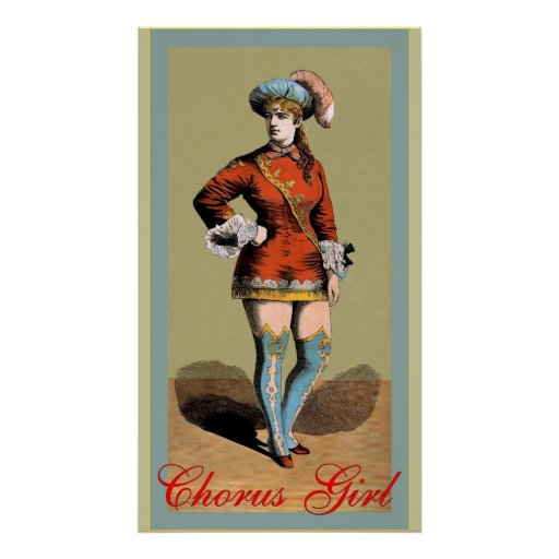 The Chorus Girl ~ Vintage Advertising Posters