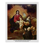 The Christ Child Distribute Bread To Pilgrims Poster