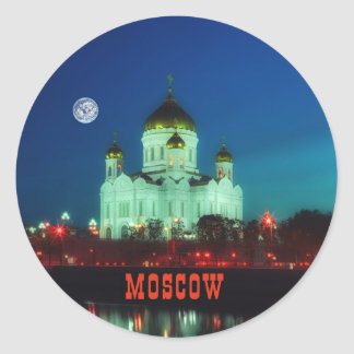 The Christ the Savior cathedral in Moscow Classic Round Sticker
