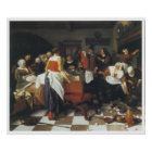 The Christening Feast, 1664 Jan Steen Poster