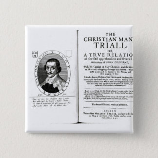 The Christian Man's Trial' by John Lilburne 15 Cm Square Badge