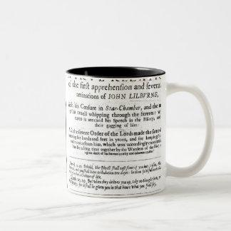 The Christian Man's Trial' by John Lilburne Two-Tone Coffee Mug