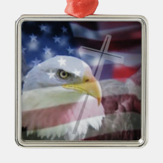 The Christian Patriot. Silver-Colored Square Decoration