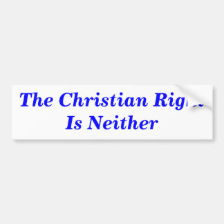 The Christian Right Is Neither Bumper Sticker