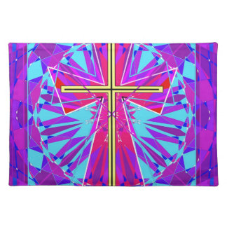 The Christian Stained Glass Window. Place Mats