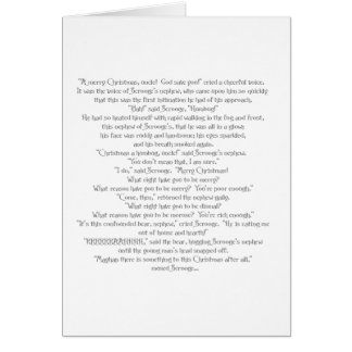 The Christmas Bear by Charles Dickens Greeting Card