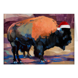 The Christmas Bison Customisable Card