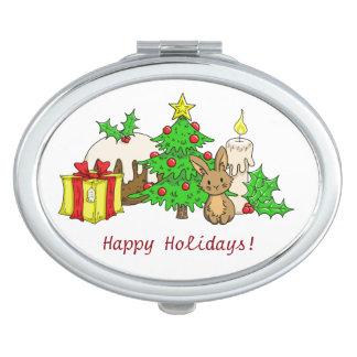 The Christmas Bunny Compact Mirror