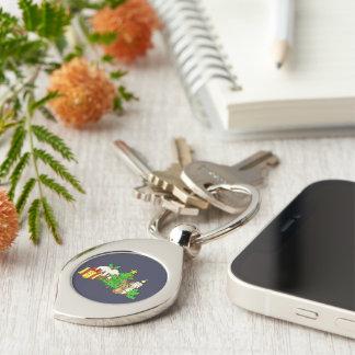 The Christmas Bunny Key Ring