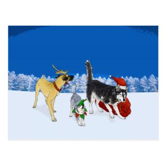 The Christmas Carol Crew Post Card