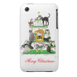 The Christmas Cat Tree iPhone 3 Case