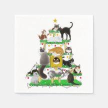 The Christmas Cat Tree Paper Napkins