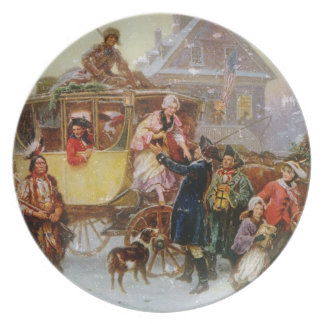 The Christmas Coach Plate