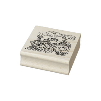 The Christmas Express Christmas Rubber Stamp