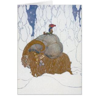 The Christmas Goat Julbok by John Bauer Greeting Card