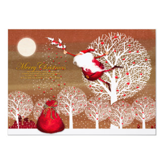 The Christmas image of the Santa Claus 13 Cm X 18 Cm Invitation Card
