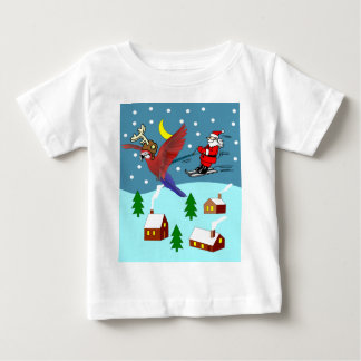 the Christmas Parrot Baby T-Shirt