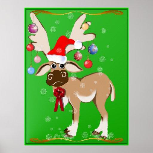 The Christmas Reindeer Poster