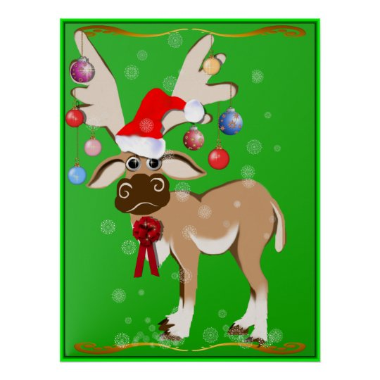 The Christmas Reindeer Poster