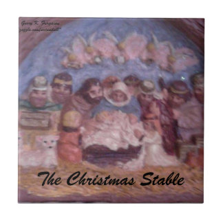 "'THE CHRISTMAS STABLE"" CERAMIC TILE"