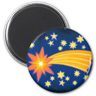 The Christmas Star 6 Cm Round Magnet