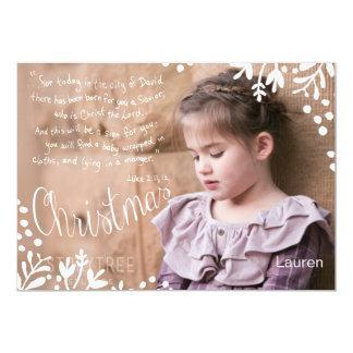 The Christmas story 5x7 double sided photocard 13 Cm X 18 Cm Invitation Card