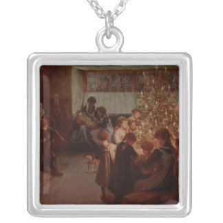 The Christmas Tree, 1911 Square Pendant Necklace