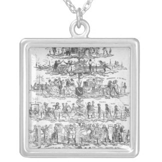 The Christmas Tree Silver Plated Necklace