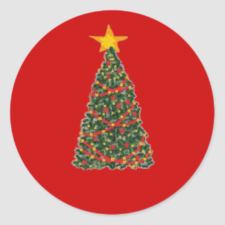 The Christmas Tree Classic Round Sticker