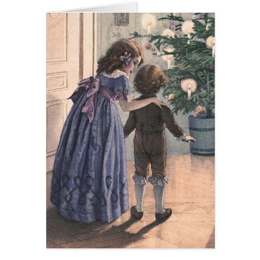 """""""The Christmas Tree"""" Vintage Christmas Card"""