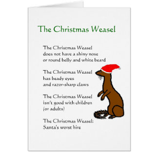 The Christmas Weasel Greeting Card