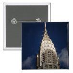 The Chrysler Building, New York City 15 Cm Square Badge