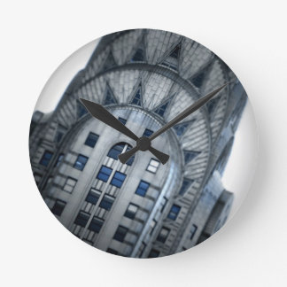 The Chrysler Building, NYC Round Clock