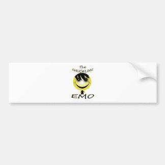 the chuckling emo bumper sticker